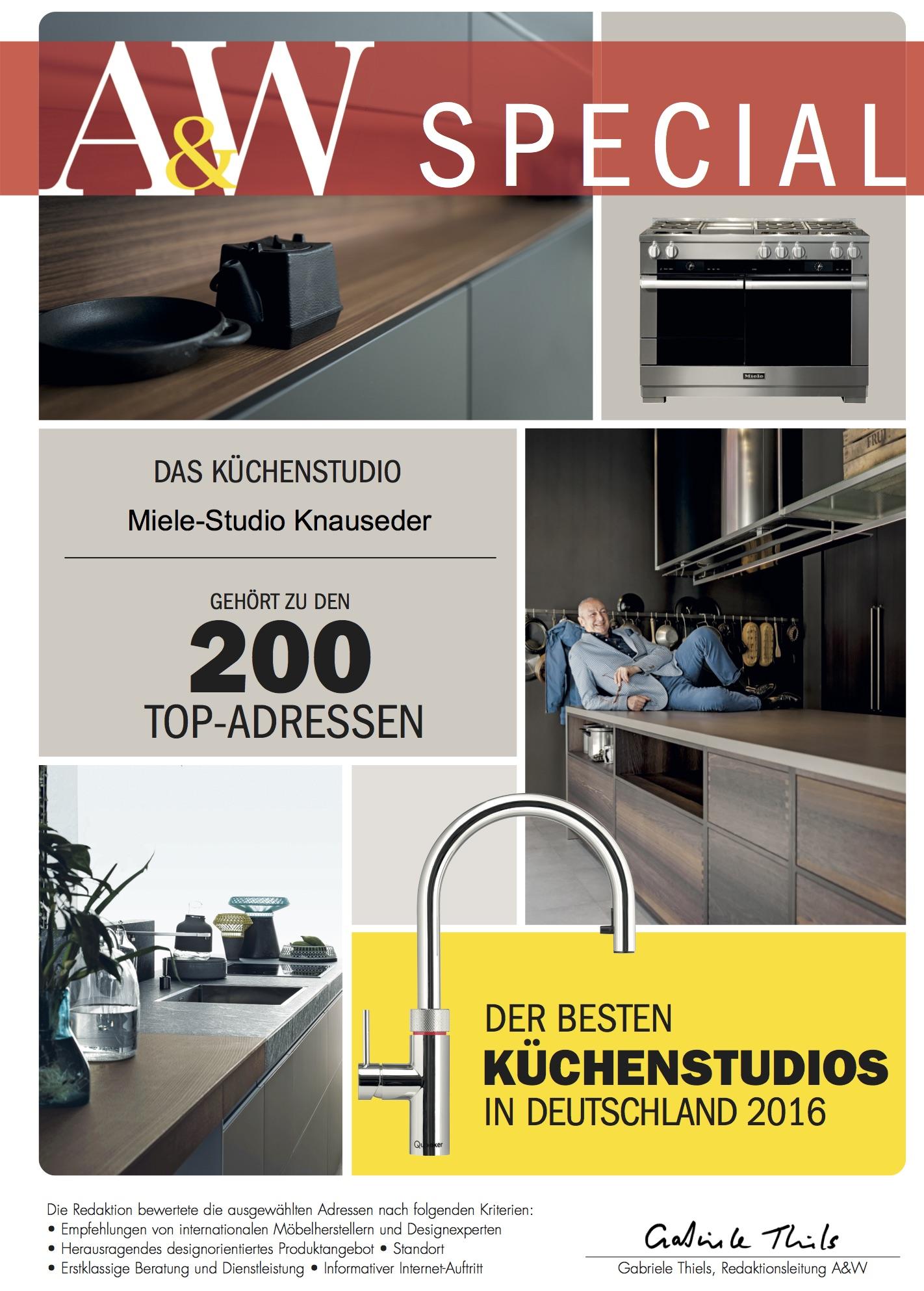 """Auszeichnung als """"Bester Küchenhändler 2016"""""""