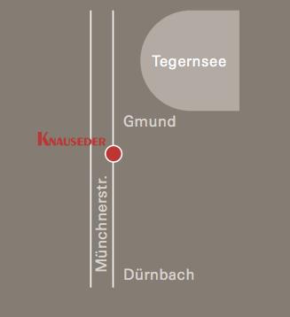 Anfahrt, Wegbeschreibung, Küchen Knauseder in Gmund am Tegernsee