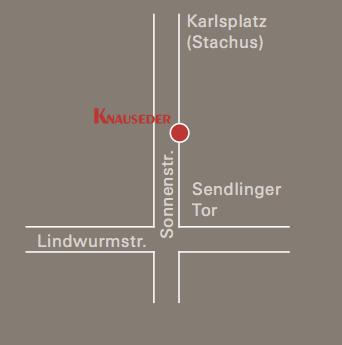 Anfahrt, Wegbeschreibung, Küchen Knauseder, München Sonnensstr.